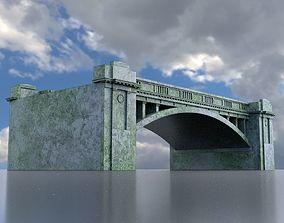 Bridge overpass 3D model game-ready