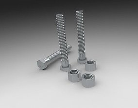 3D printable model Nuts and Bolts