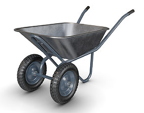 3D model Wheelbarrow Gray