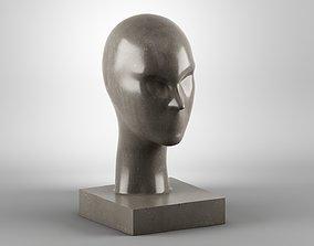 face Modern concept head sculpture 3d print model