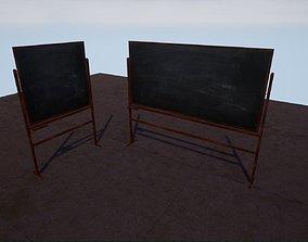 Turning Blackboard animated 3D model game-ready