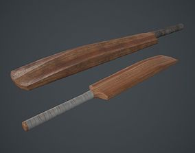 Cricket Bat PBR Game Ready 3D model