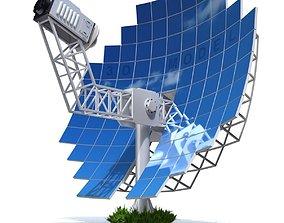 3D model Solar Stirling Engine