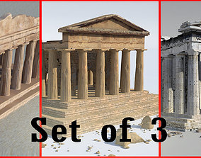 Parthenon-Set of 3 3D model