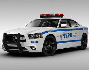 3D model Dodge Charger NYPD Police Car 2013
