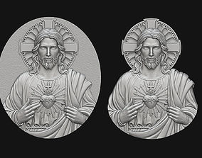 Jesus With Sacred Heart Pendant 3D printable model