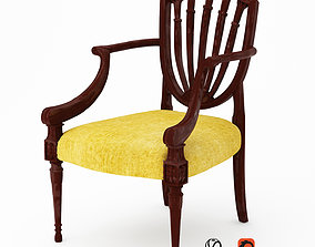 Pair of Hepplewhite Style Chairs 3D