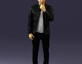 Pensive man in black 0218 3D model