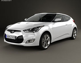 3D model Hyundai Veloster with HQ interior 2014