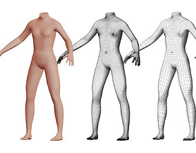 3D Character 23 High and Low-poly - Body male