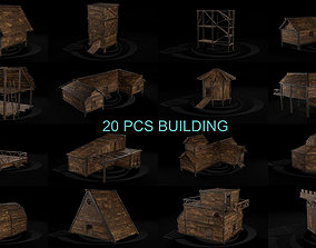 3D model AAA Wooden Enterable Medieval Primal Hut 2