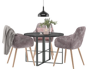 dining-table Dining Furnitures Set 20 3D