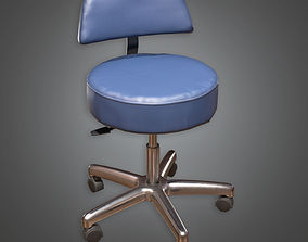 3D asset Doctors Rolling Chair HPL - PBR Game Ready