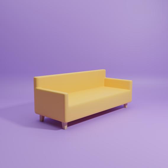Lowpoly Sofa - Free
