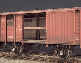 3D asset Railway Covered Goods Wagon 18T Vr3 Ok Red