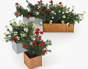 Flowerbed Nerium Planterworx RANCH TRUE SQUARE 3D