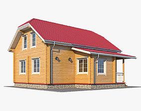 3D Log House 04