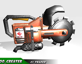 realtime Mini Chainsaw Low-poly 3D model