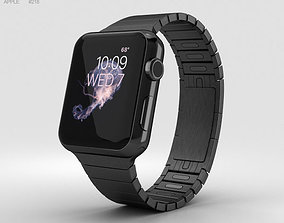 Apple Watch Series 2 38mm Stainless Steel Case Black 3D