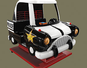 3D asset Police Coin Operated Ride