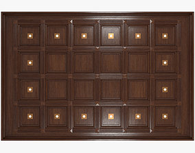 Coffered ceiling 3D asset
