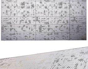 perforated metal panel N4 3D model