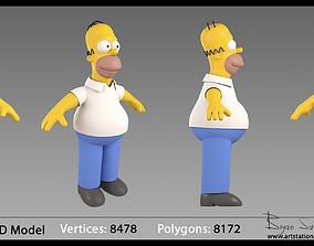 Homer Simpson 3D Model man