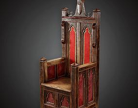 3D asset Throne - MVL - PBR Game Ready