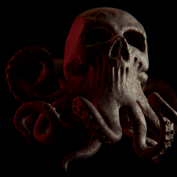 Skull-octopus