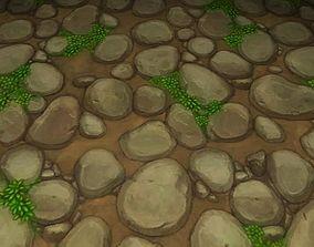 ground stone grass tile 13 3D model