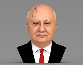 Mikhail Gorbachev bust ready for full color 3D