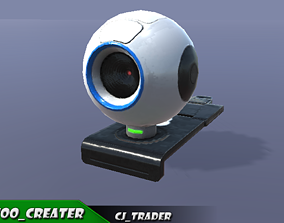 game-ready Web-Cam low poly 3d model
