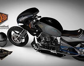 fastest Motorcycle modified sport 3D model