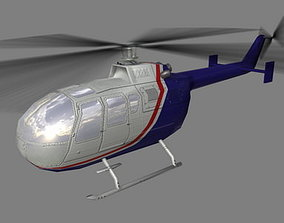 Bo105 V5 Helicoopter 3D asset