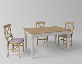 Table an chair 3D