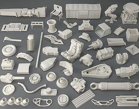 3D Kit bash - 50 pieces - collection-6