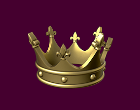 3D printable model Crown with heraldic lily