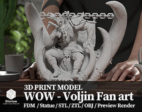 World of warcraft Voljin statue fanart - 3D print model