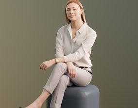 Ramona 10040 - Sitting Business Women 3D model