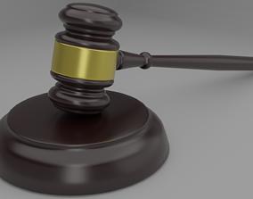 3D model game-ready Law Gavel