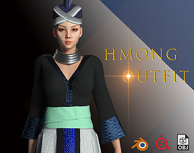 3D model Character Creator - Hmong Female Costumes