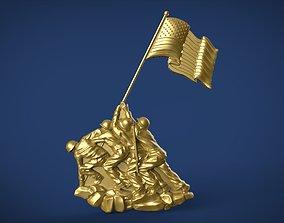 3D print model Iwo Jima Tribute American Marine Hero