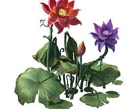 Game model - Hanging Garden - Xian Yun flowers 01