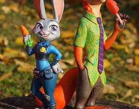 Judy Hopps and Nick Wilde 3D printable model