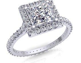 Fancy Woman Engagement Ring 3D printable model platinum