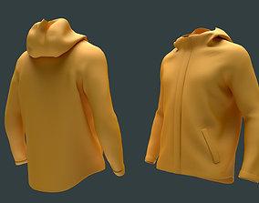 girl Mens Clothing Jacket Hoodie 3D model