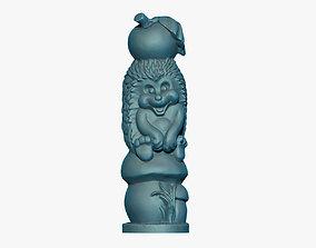 art Hedgehog Sculpture 3D Print Model