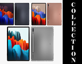 3D model Samsung Galaxy Tab S7 All Colors