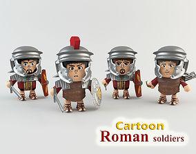 3D asset Cartoon Roman soldiers