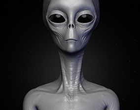 Realistic Alien 4 Sculpt 3D model